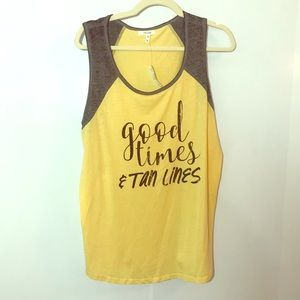 Maurice's Good Times And Tan Lines yellow tank top